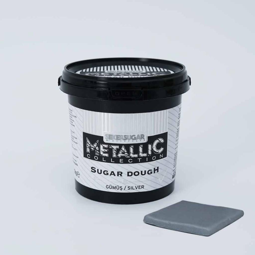 1 Kg Gümüş Metalik Şeker Hamuru